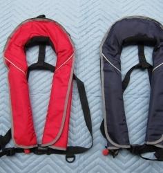 ライフジャケット 自動膨張式 赤・青 type2