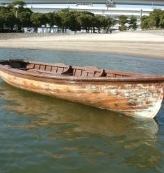 木製アンティークローボート(撮影美術品)