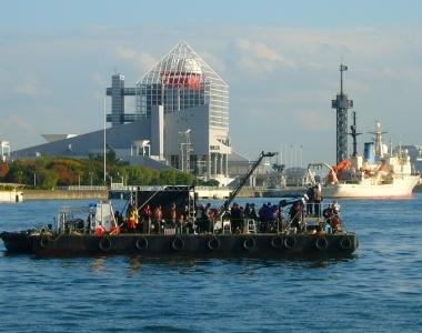 台船を使用した大規模な撮影も可能です