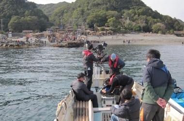 ジール撮影事業部 カメラ船を使用した映画撮影