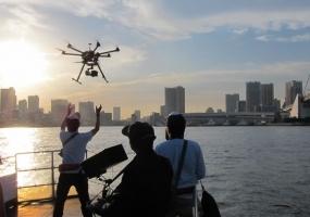 ドローン撮影 カメラ船 海上撮影 東京湾クルーズ|ジール撮影事業部