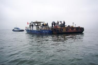ジール撮影事業部 平台船を使った撮影